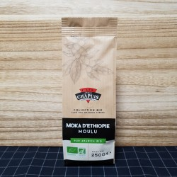 Café MOKA D'ETHIOPIE MOULU BIO
