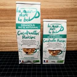 Granola cacahuètes et raisins